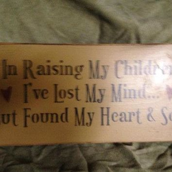 Primitive Distressed Rustic Hand Made Wooden Sign - Mothers
