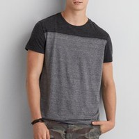 AEO Colorblock Pocket T-Shirt , Storm Heather | American Eagle Outfitters
