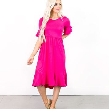 Trisha Tiered Bell Sleeve Dress