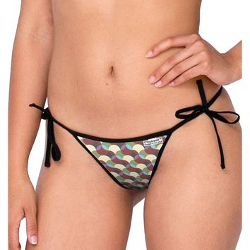 Geometric Abstract AOP Swimsuit Bikini Bottom All Over Print by TooLoud