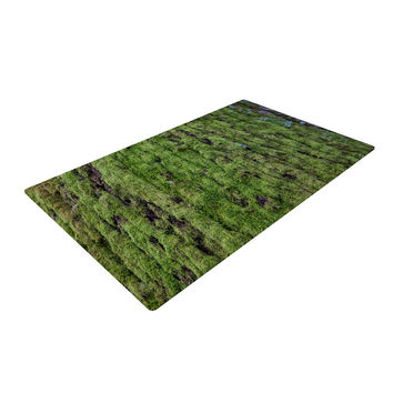 "Susan Sanders ""Emerald Moss"" Green Nature Woven Area Rug"