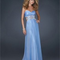 Sexy Sweetheart Neckline with Beadings Chiffon Floor Length Prom Dress PD11056 Sale Online