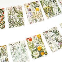 Botanical Bunting, Paper Bunting, Natural Wedding bunting, Double sided Flower Garland, eco-friendly floral banner, up-cycled bunting