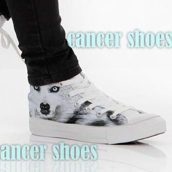 Wolf Converse,Custom Canvas Shoes for Women Model 101(New)