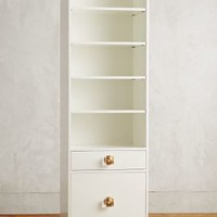 Tracey Boyd Lacquered Regency Bath Cabinet, Large in White Size: One Size Furniture