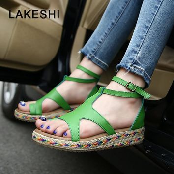 Ladies Fashion Casual Strap Flat Sandal