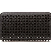 Wiberlux Christian Louboutin Women's Studded Zip-Around Long Wallet