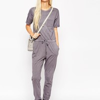ASOS Washed Casual Jumpsuit with Drawstring