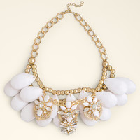 bebe Womens Layered Statement Necklace