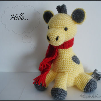 Giraffe Amigurumi - Crochet toy, Baby shower gift, Childrens toy- Ready to ship
