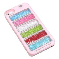 Pink Bling Rainbow Crystal Phone Cover Case for Iphone 4/4s
