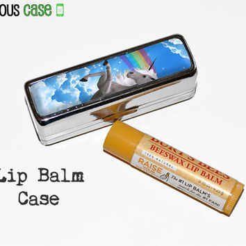 Totally 80s Unicorn Rainbow Lip Balm Mirrored Case