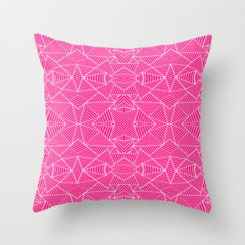 Ab Zoom Mirror Fushia Throw Pillow by Project M
