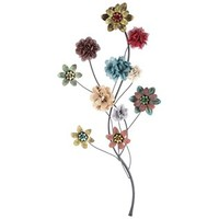Black & Multi Color Metal Floral Stem Wall Decor | Shop Hobby Lobby