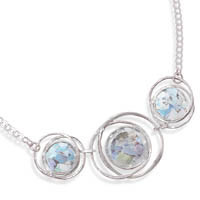 17in Abstract Circle Roman Glass Necklace