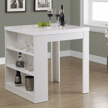 "White Hollow-Core 32""X 36"" Counter Height Table"