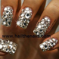 Crystal  Studs Nail Art  This seasons must have by Hailthenails