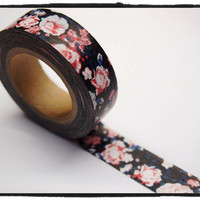 Shabby chic Floral Washi Tape Roll Adhesive Stickers WT291 (2 Rolls)