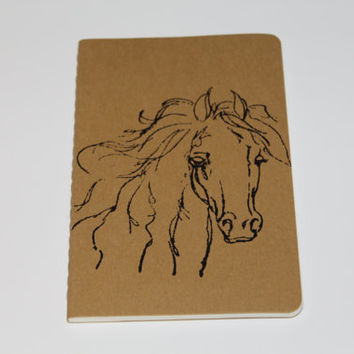 Mini Wild Horse Lined Journal Notebook