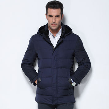 Winter Jacket Men Parka Winter Down Coats Jaquetas Masculina Feather For Men Down Clothes Male Black Blue Casual Jacket