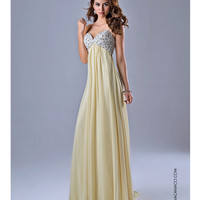 Pearl Sweetheart Light Yellow Gown