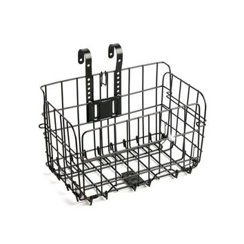 Outdoor Sports Riding Mountain Cold-drawn Steel Wire Bike Folding Hanging Basket Bicycle Basket Accessory High Quality -Black