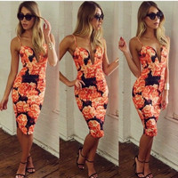 Sexy Women Slim Fit Sleeveless Cocktail Clubwear Evening Party Bodycon Dress = 1956860484