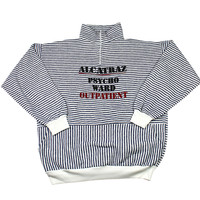 Vintage 90s Alcatraz Psycho Ward Tourist Sweater Made in USA Mens Size Large