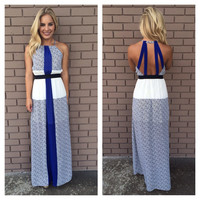 Royal & Ivory Zig Zag Sahara Maxi Dress