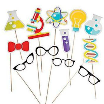 Science Party Photo Booth Props, Chemistry Theme Birthday,  Picture Props