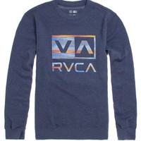 RVCA Balance Box Crew Fleece - Mens Hoodie - Blue