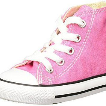 Converse Chuck Taylor All Star Hi Pink Textile Baby Trainers