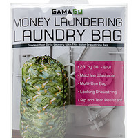 Money Laundry Bag Green One