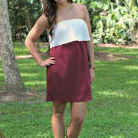 SOUTHERN VOICE - Strapless Crimson Red Dress - Shop Simply Me Boutique – Simply Me Boutique