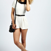 Verity Structured Collar 1/2 Sleeve Playsuit