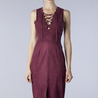 Nora Suede Dress