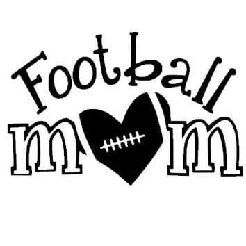 Football Mom Car Decal Heart Love