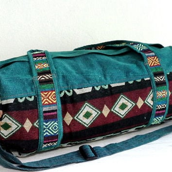 Hippie Weekender bag, Lightweight travel bag, Hippie overnight bag, Handmade cotton sports gym bag, Small Size Cute Duffle bag, Short Trips