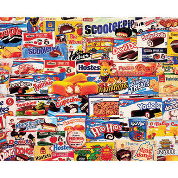 Jig Saw Puzzle 1000 Piece Snacks Treats Nostalgia Wall Decor Family Fun Skill