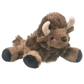 "7"" Bison Buffalo Finger Puppets Stuffed Animals Conservation Collection"