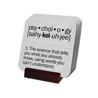Psychology Definition Coasters with Display Holder