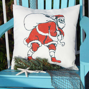 "OLD SCHOOL SANTA 1916 Christmas Seal tuberculosis fundraiser 20"" (50cm) outdoor handpainted holiday St. Nick ho ho ho Crabby Chris Original"