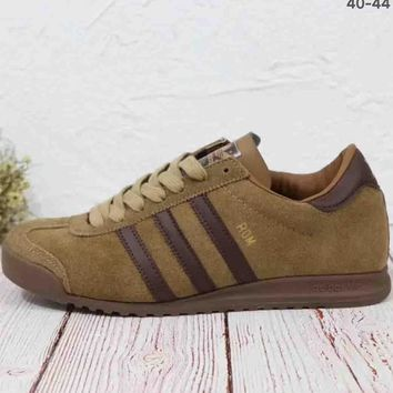 ADIDAS ROM 2018 trendy leather casual retro flat running shoes F-MLDWX khaki
