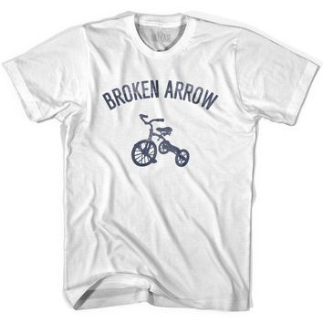 Broken Arrow City Tricycle Womens Cotton T-shirt