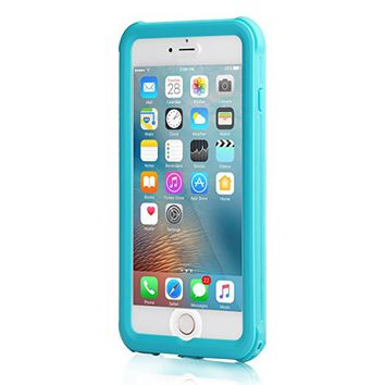 iPhone 6/iPhone 6s Waterproof Case, Meritcase 4.7 inch iPhone 6/6s Full Body Shockproof Snowproof Dirtproof Sandproof Case for Swimming Diving Surfing Snorkeling (4.7 inch, Blue)