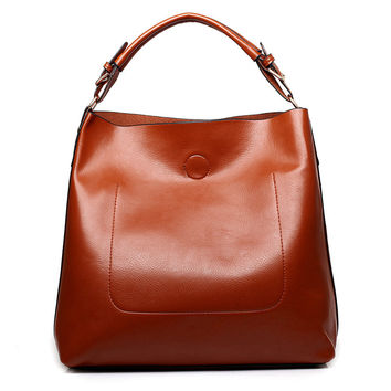 women leather casual shoulder bag bright surface luxury women designer handbags high quality famous brand ladies sac hand bags