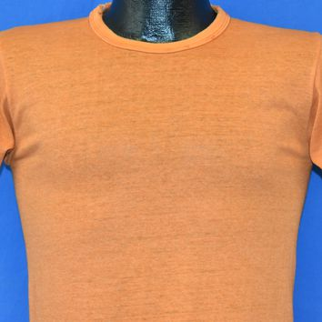 70s Russell Athletic Blank Orange Distressed t-shirt Small