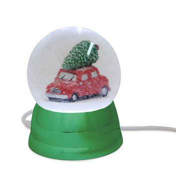 USB Snow Globe Vintage Car