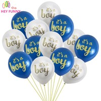20 pcs baby shower balloons its a boy printed balloons baby shower decorations latex balloons supplies