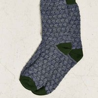 Pattern Stitch Boot Sock- Green One